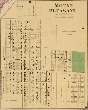 Mt. Healthy / Mt. Pleasant map, 1869